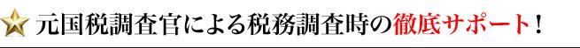 元国税調査官による税務調査時の徹底サポート!